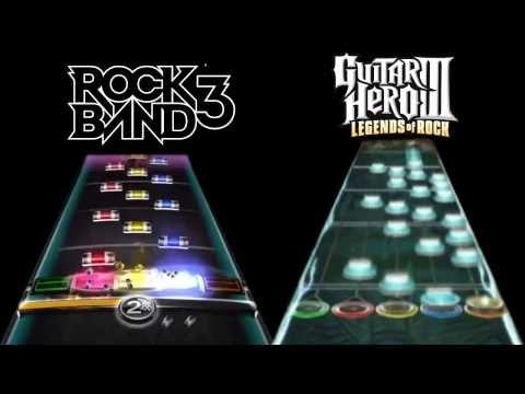 Guitar Hero 3 Vs. Rock Band 3 - Through The Fire And Flames - Guitar - Expert