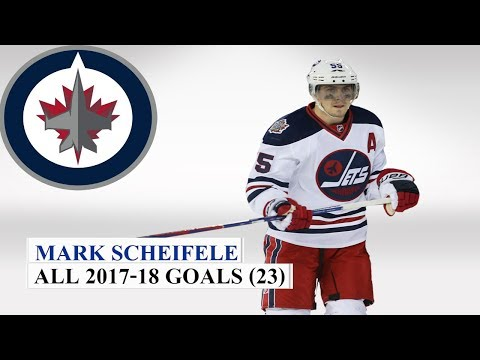 Mark Scheifele (#55) All 23 Goals of the 2017-18 NHL Season