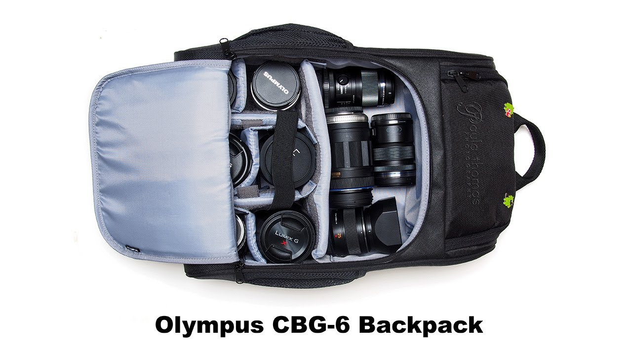 Olympus CBG-6 Backpack for Mirrorless Cameras - YouTube