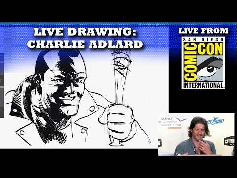 THE WALKING DEAD'S NEGAN LIVE DRAWING BY CHARLIE ADLARD | SAN DIEGO COMIC CON 2016 LIVE SHOW!