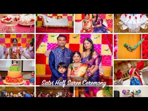 Satvi Traditional Half Saree Voni Ceremony Celebrations Boston Manam Events 1080p HD thumbnail