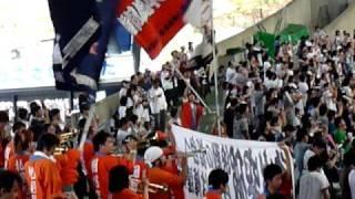 北海道日本ハムファイターズの試合前応援。 【1-9】 工藤-森本-田中...