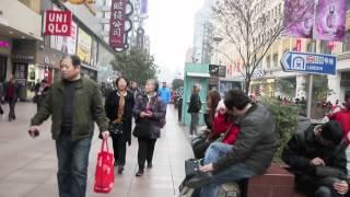 Walking Nanjing Road, Shanghai, China HD