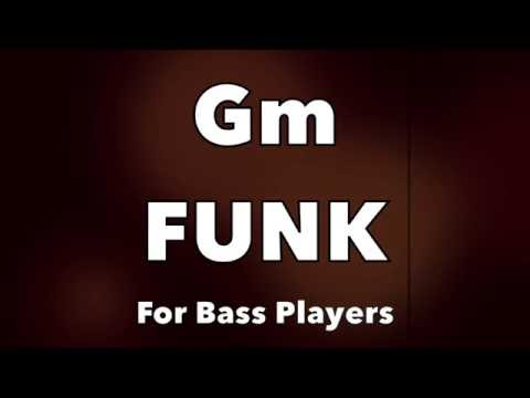 Download Youtube: Funk Bass Backing Track (Gm)