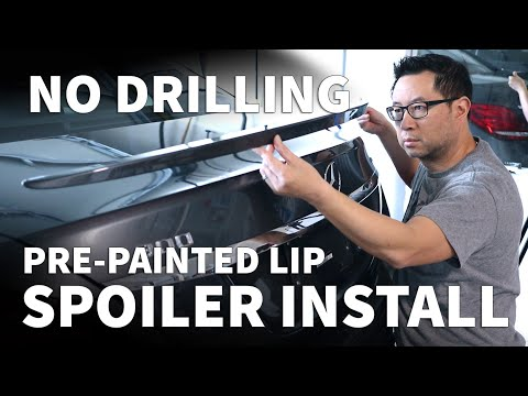 How to Install a Trunk Spoiler – Mercedes C300 W205 No Drill Spoiler Installation with 3M Tape