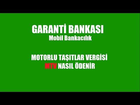 GARANTİ BANKASI Mobilden MTV Ödeme (Motorlu Taşıtlar Vergisi)
