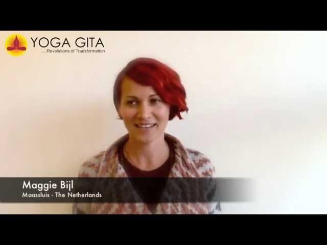 Yoga Gita testimonial by Maggie