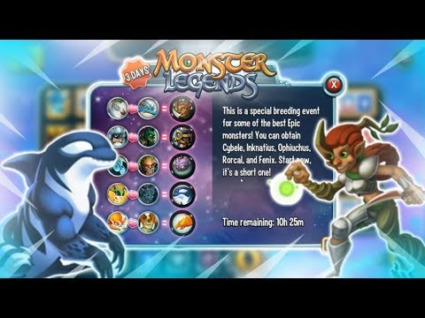 Download THE NEW EPIC BREEDING EVENT GAMEPLAY: Monster Legends