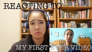 REACTING TO MY FIRST EVER VIDEO | just tomboy things
