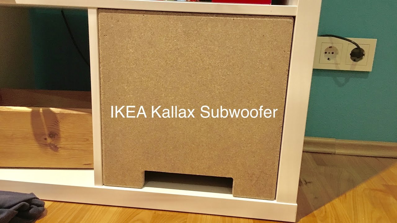 ikea hack kallax expedit subwoofer 1 3 youtube. Black Bedroom Furniture Sets. Home Design Ideas