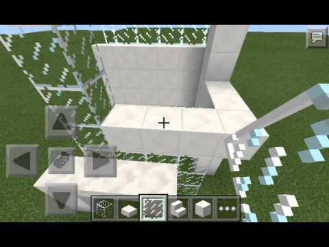 Como hacer una casa moderna de 6x6 minecraft pe youtube for Casa moderna 6x6