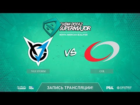 VGJ Storm vs coL, China Super Major NA Qual, game 1 [Autodestruction]