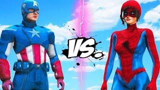 Captain America vs Girl Spiderman - Epic Battle