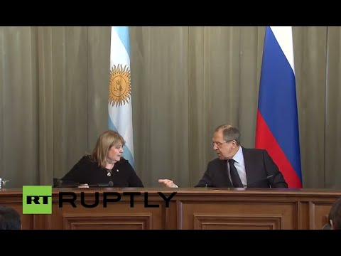 LIVE: Lavrov holds joint press conference with Argentina's FM Malcorra