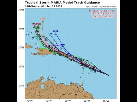 MARIA FORECAST TO BECOME A MAJOR HURRICANE & IMPACT LEEWARD, VIRGIN ISLANDS PUERTO RICO DOMINCAN REP