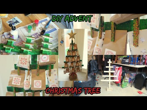 DIY Advent Calendar Christmas Tree