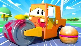 El lavado de Autos de Tom -  Bebé Steve - Dibujos animados de carros
