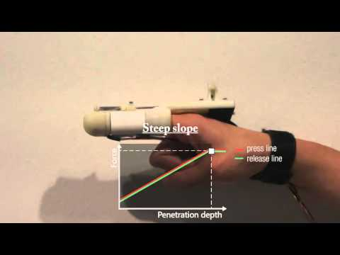 HapThimble: A Wearable Haptic Device towards Usable Virtual Touch Screen
