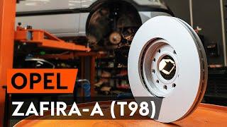aizmugurē un priekšā Bremžu diski maiņa OPEL ZAFIRA A (F75_) - video pamācības