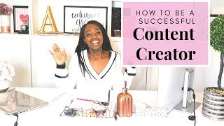 How to be a Successful CONTENT CREATOR  Social Media Tips Grow Your Influence and Make Money
