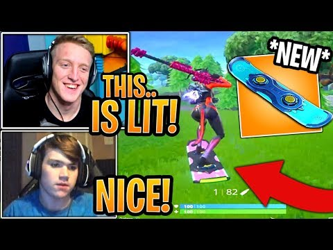 Streamers First Time Using the *NEW* Driftboard! - Fortnite Best and Funny Moments