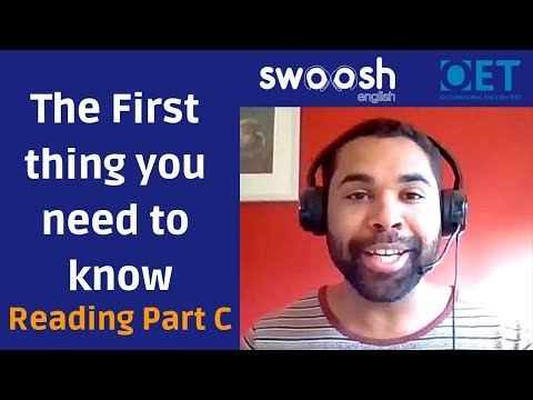 OET 2 0 Reading | The First thing you need to know about