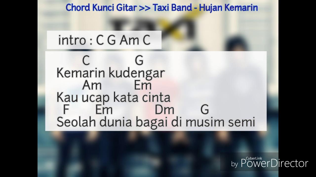 Chord Lagu Kemarin Info Dan Tips