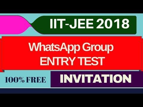 IIT-JEE I WhatsApp Group I Revision Guidance