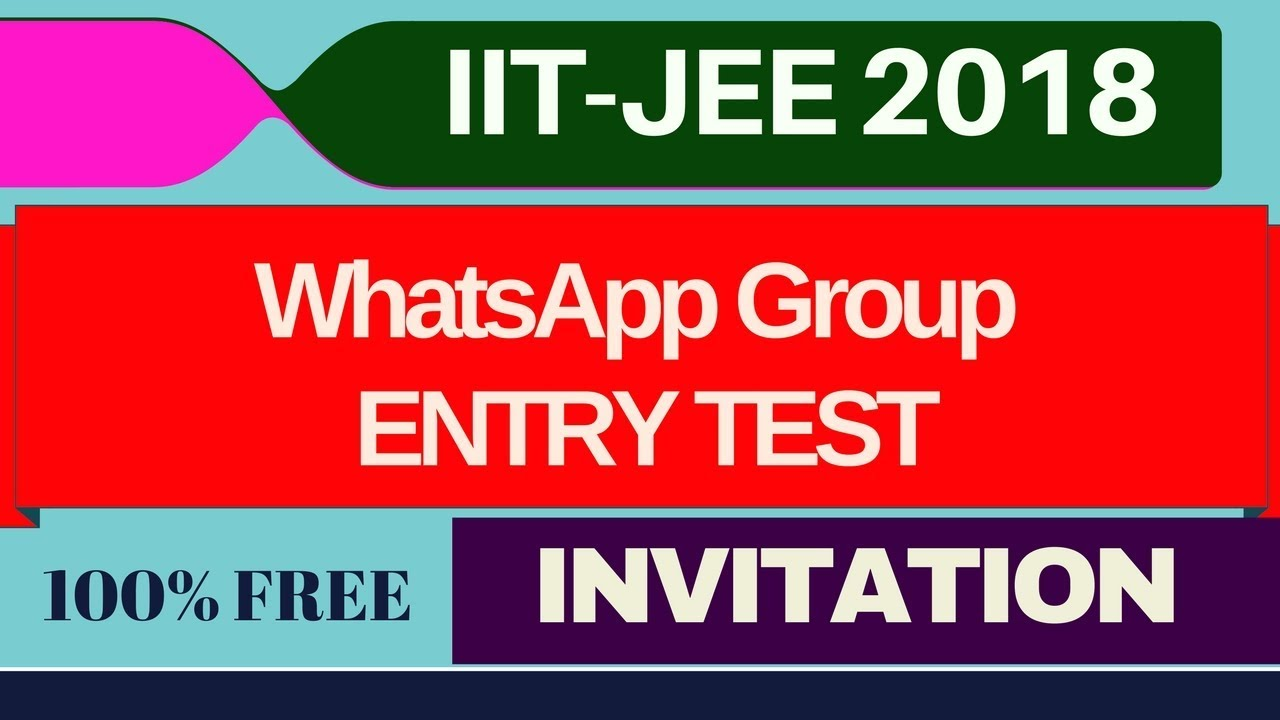 IIT-JEE I WhatsApp Group I Revision Guidance