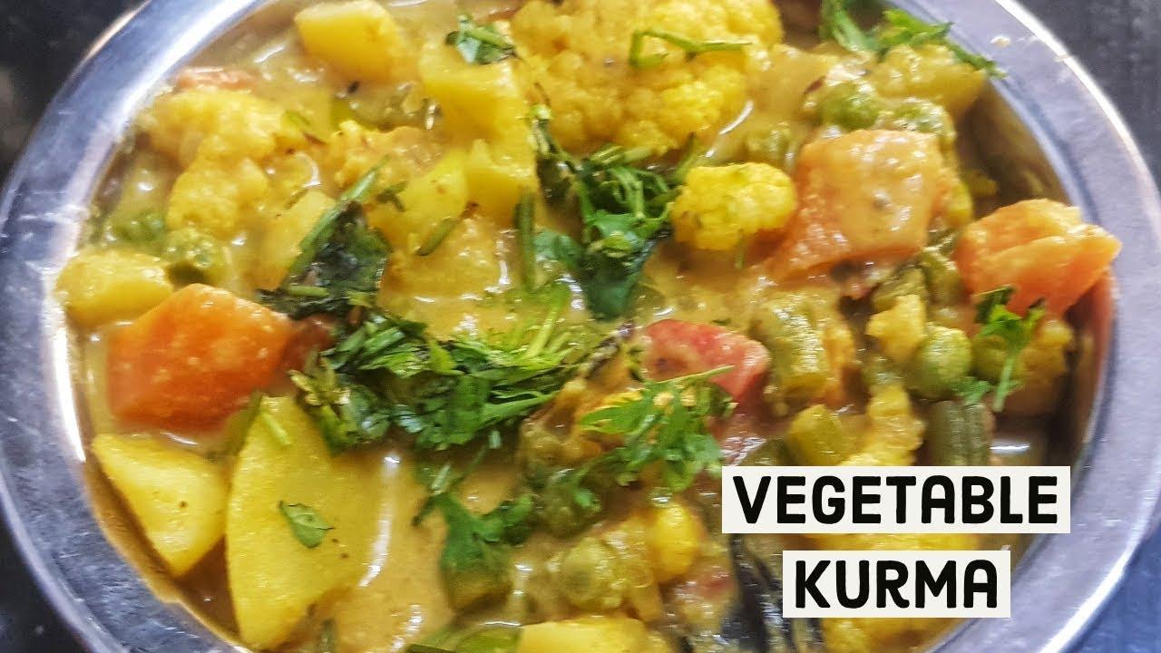 Recipe 124 | Vegetable Kurma | Vegetable Korma Recipe ...