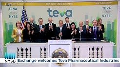 Teva Pharmaceutical Industries (NYSE: TEVA) Rings the NYSE Closing Bell