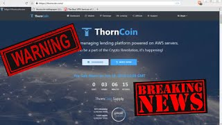 ThornCoin WARNING! DON'T JOIN UNTIL YOU SEE THIS!