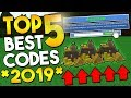 TOP 5 BEST CODES EVER!! (2019) | Build a boat For Treasure ROBLOX