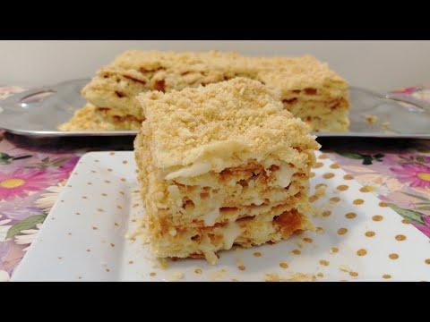 НАПОЛЕОН ТОРТ // OG'IZDA ERIYDIGAN NAPOLEON TORT //  CAKE NAPOLEON