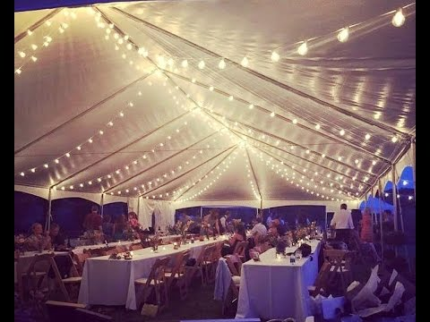 Cafe String Lights Wedding Rentals Kentucky - YouTube