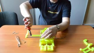 how to assemble 3d printer smartrap mc3 видеоинструкция по сборке 3d принтера mc3 ось y часть 2