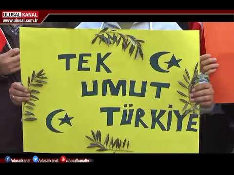 Afrin operasyonuna Türkiye'deki Suriyeliler de destek verdi