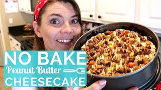 NO BAKE PEANUT BUTTER CHEESECAKE | NO BAKE WITH ME | MOM LIFE