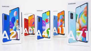 Every Samsung Galaxy A Series Phone Compared! The Ultimate Guide A01 A11 A21 A31 A41 A51 A71