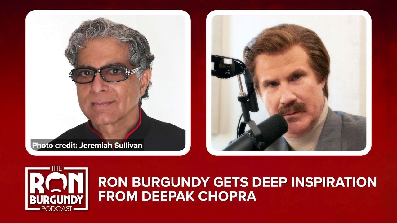 Ron Burgundy Gets Deep Inspiration From Deepak Chopra