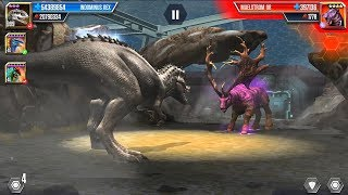 MAELSTROM 08 VS INDOMINUS REX - Jurassic World The Game Android Gameplay