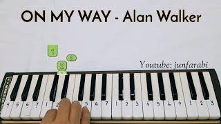 not pianika on my way alan walker