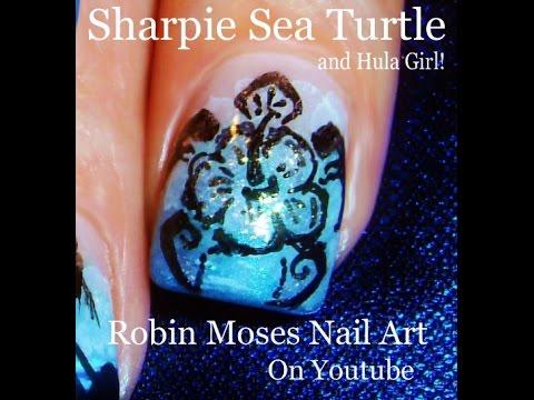 Sea turtle nail art design tutorial youtube sea turtle nail art design tutorial prinsesfo Images