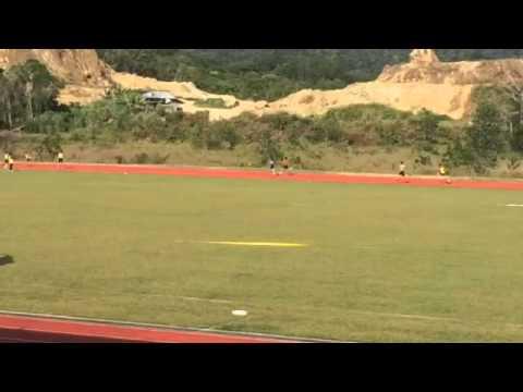 4x100m MSSB Selatan, Papar team, Sabah, Malaysia 2015 - Aidan Ibrahim bin Mohamat 4th runner - GOLD