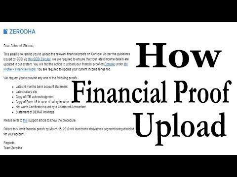 ZERODHA Final reminder for financial proof   ZPIN   Mobile no. & email Change - Sharmastocks.com