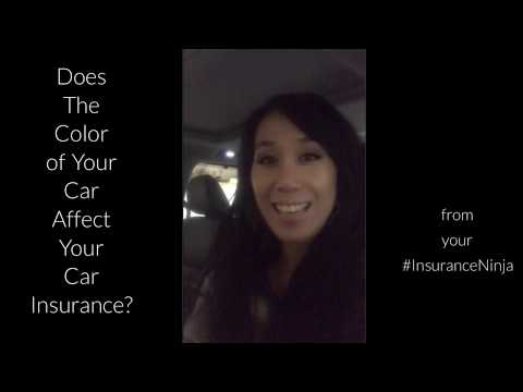 Does the Color of Your Car Affect Your Insurance?