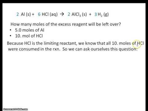 # 5 Limiting Reactant excess reagent