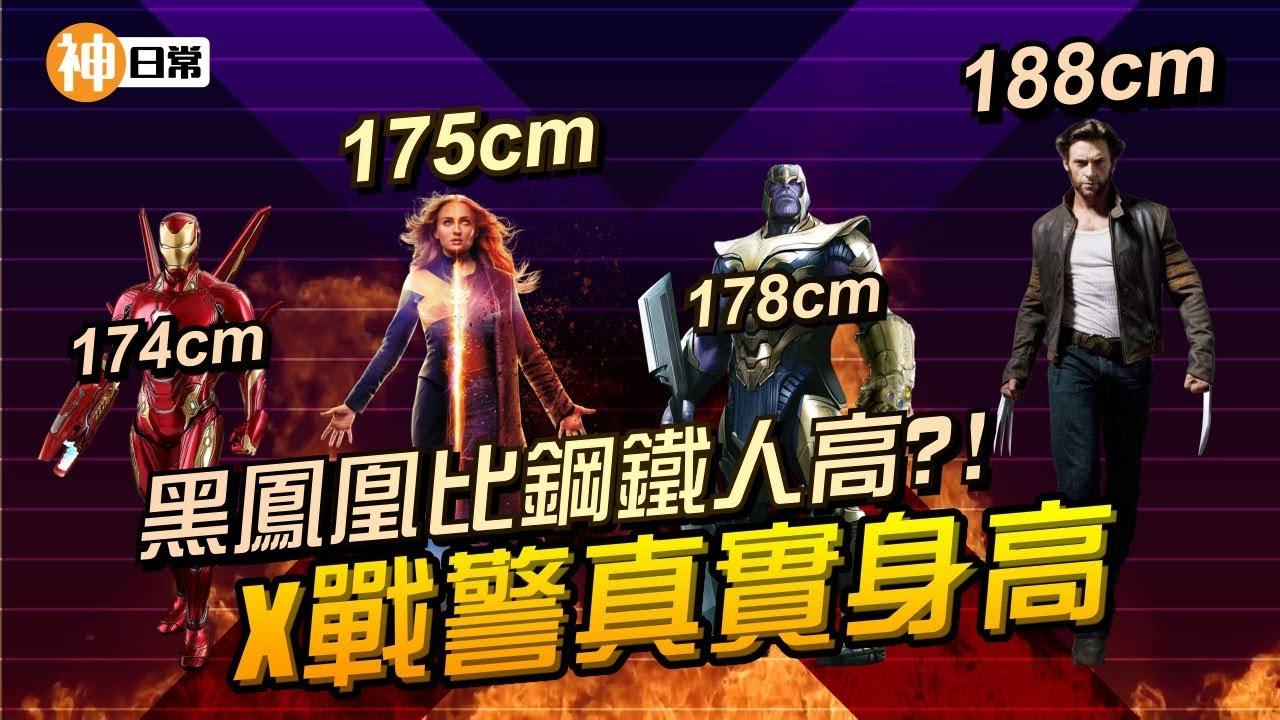X戰警真實身高,黑鳳凰比鋼鐵人高?!