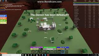 Roblox Field Of Battle: Joining a demon server and getting mithril