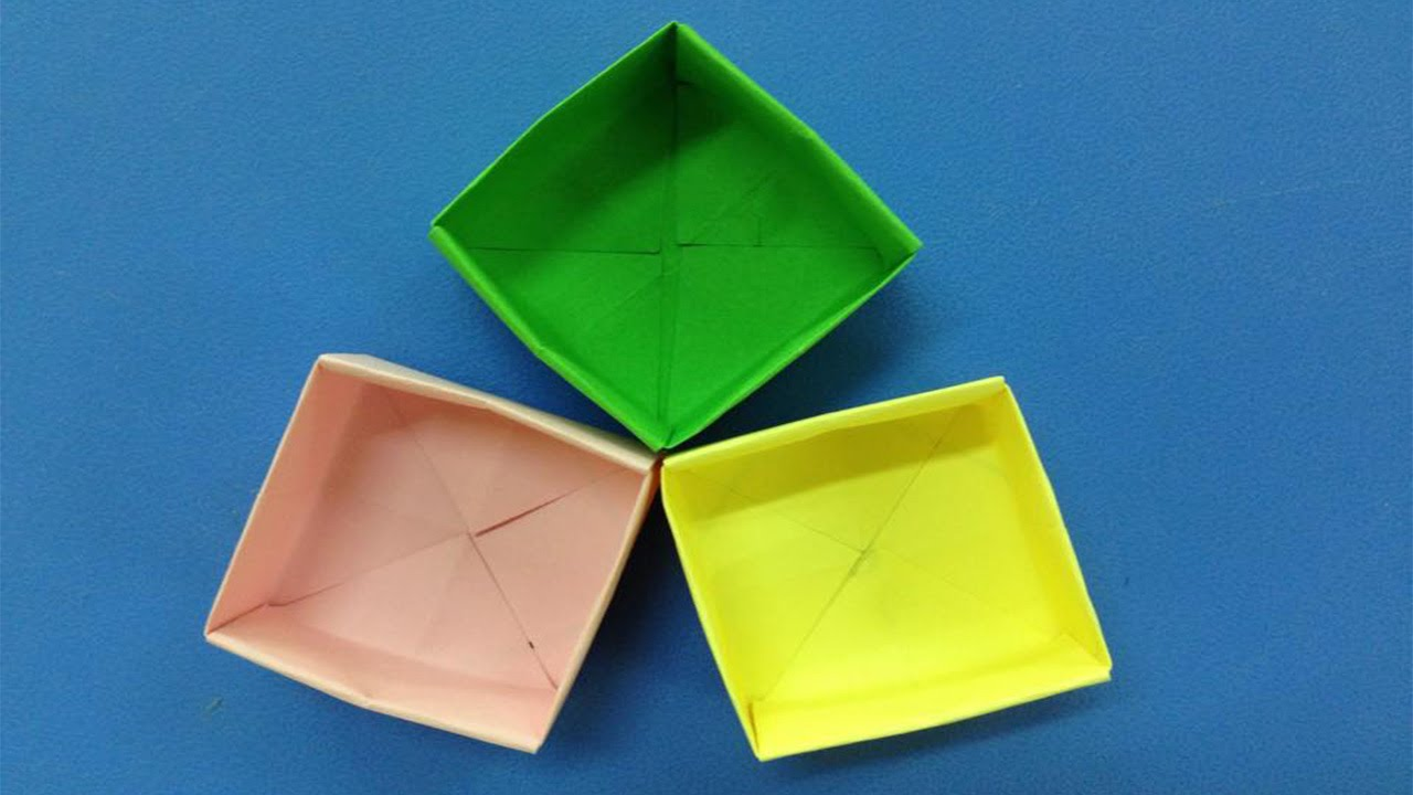 how to make a paper box easy origami box for beginners